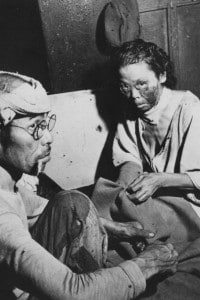 Hibakusha vittime dell'esplosione atomica di Hiroshima