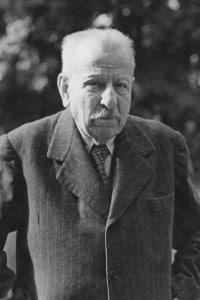 Il filosofo italiano Benedetto Croce (1866-1952)