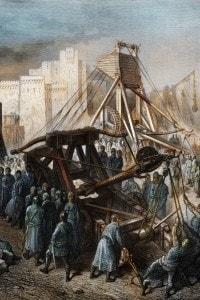 Macchine di guerra dei Crociati, dipinto di Gustave Dore', 1878