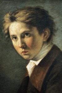 Ritratto di Foscolo da giovane