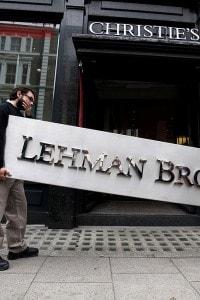 Il logo messo all'asta dopo il crollo della banca d'affari Lehman Brothers