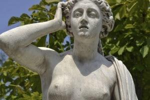 Particolare di una statua raffigurante Andromaca