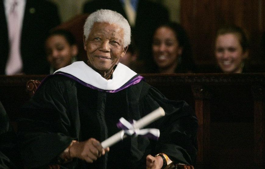 Laurea ad honorem da Amherst College a Nelson Mandela