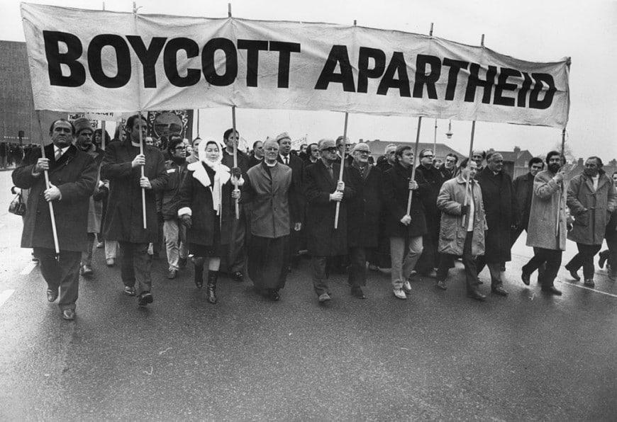 Manifestanti anti-apartheid