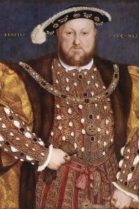 Enrico VIII in un ritratto di Hans Holbein il giovane (1540)