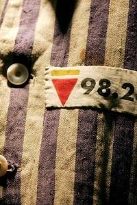 Uniforme di Mr Leon Greenman: sopravvissuto al campo di concentramento di Auschwitz