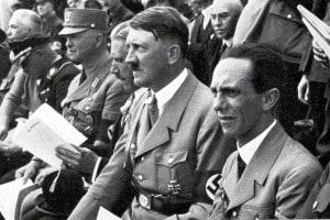 Foto di Adolf Hitler e Joseph Goebbels