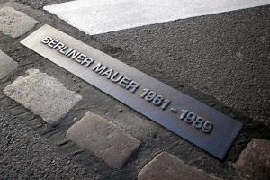 Il luogo in cui sorgeva parte del Muro di Berlino