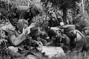 Foto dei soldati tedeschi durante l'Operazione Barbarossa