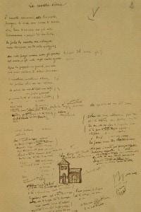 Testo autografo de La cavalla storna