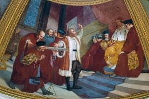 Galileo prensenta il suo cannocchiale al doge di Venezia