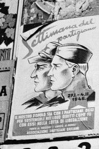 """Marzo 1946: un poster bilingue promuove la """"settimana del partigiano"""""""