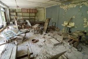 Chernobyl, scuola distrutta dalle esplosioni