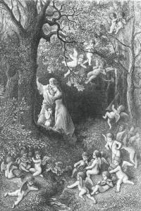 Angelica e Medoro, illustrazione di Paul Gustave Dore