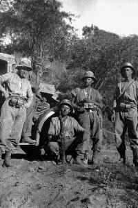 Un gruppo di soldati italiani durante la Guerra d'Etiopia