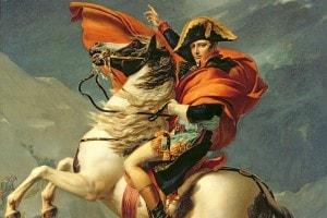 Napoleone attraversa le Alpi il 20 maggio 1800. Dipinto di Jacques Louis David (1803)