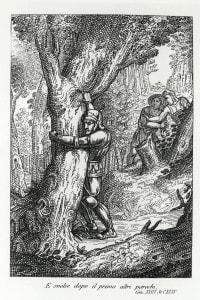 Orlando impazzisce di gelosia, illustrazione di Paul Gustave Dore