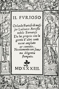 Orlando Furioso: frontespizio dell'edizione del 1533