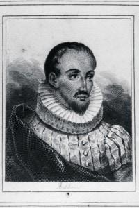 Ritratto di Miguel de Cervantes, celebre scrittore rimasto ferito durante la Battaglia di Lepanto