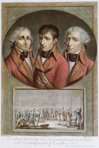 Ritratto dei tre consoli della Repubblica (Napoleone al centro).