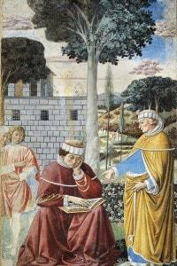 Altra illustrazione che raffigura Agostino