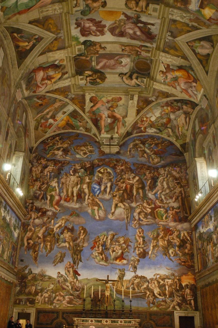 Il giudizio universale cappella sistina immagini degli for Decorazione quattrocentesca della cappella sistina