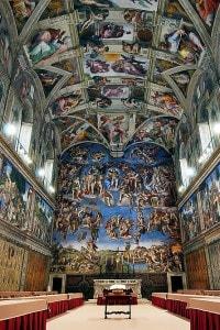 Fotografia della Cappella Sistina