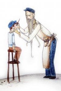 Disegno di Geppetto e Pinocchio