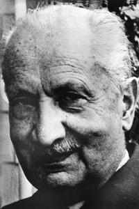 Foto del filosofo Martin Heidegger
