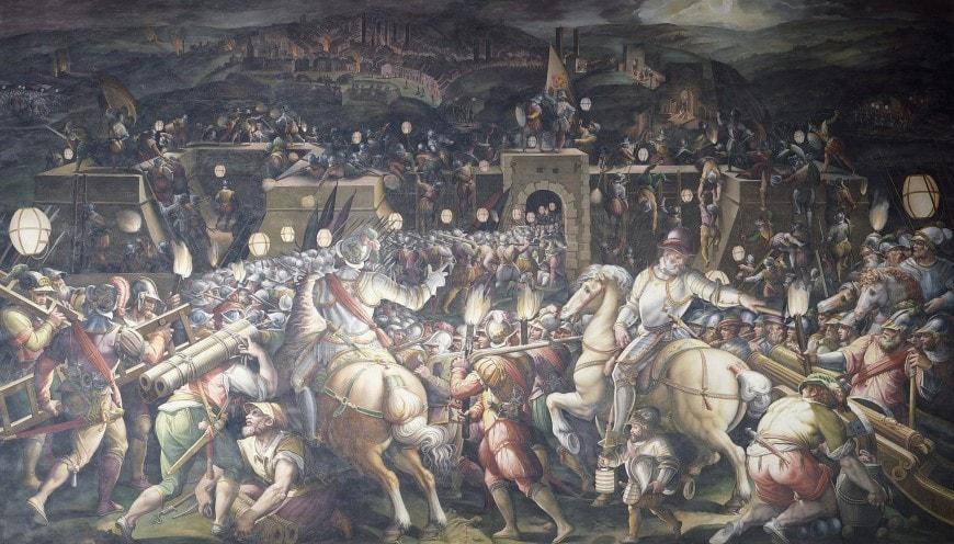 I Medici - La presa di Siena di Giorgio Vasari