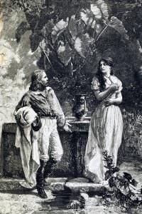 Il primo incontro tra Giuseppe Garibaldi e Anita (Ritratto di Edoardo Matania)