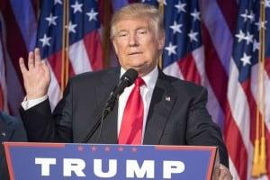 Foto di Donald Trump, nuovo presidente degli Stati Uniti