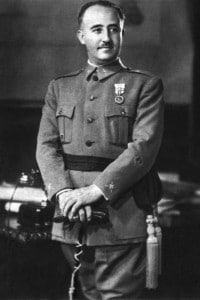Fotografia del generale Francisco Franco (1892-1975)