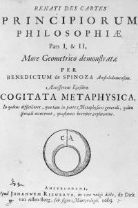Principi della filosofia di Cartesio, la prima opera di Baruch Spinoza scritta a soli 29 anni