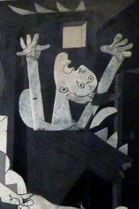 Particolare sul lato destro del Guernica