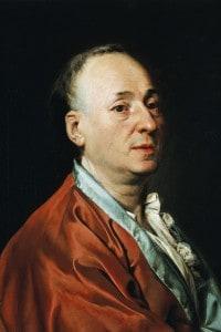 Ritratto di Denis Diderot, esponente dell'Illuminismo e autore della Encyclopédie insieme a D'Alembert