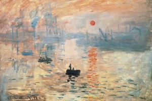 """Impressione, sole nascente"", 1872, Claude Monet"
