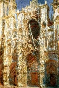 """""""Cattedrale di Rouen, sole"""", 1894, Claude Monet"""