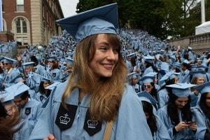 Cerimonia di laurea alla Columbia University