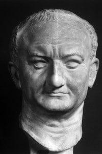 Vespasiano: testa-ritratto dell'imperatore romano