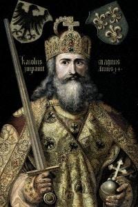 Illustrazione di Carlo Magno, re dei franchi