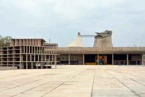 Edificio del complesso di Chandigarh, India