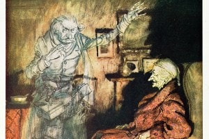 Canto di Natale di Charles Dickens - Illustrazione