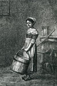 Cosette, illustrazione da I Miserabili di Victor Hugo