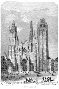 Cattedrale di Rouen, iniziata nel 1030 e conclusa nel 1540