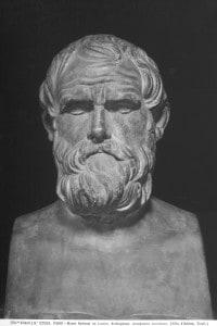 Busto di Aristotele esposto al Louvre di Parigi