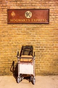 Harry Potter: il binario 9 e 3/4 della stazione di King's Cross