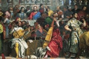"""Dettaglio centrale del dipinto """"Le nozze di Cana"""""""