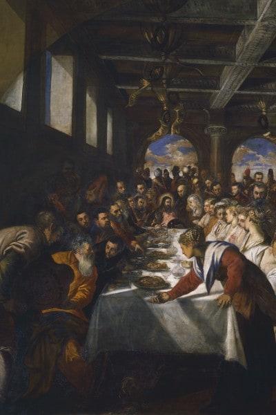 """""""Nozze di Cana"""", 1561, Tintoretto,  Chiesa di Santa Maria della Salute"""