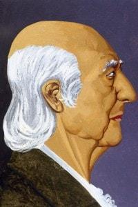 Ritratto/caricatura di Friedrich Hegel